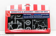 Double 1970s Dirt Bikes AMT Parts Pack PP014 1/25 New Motorcycle Model Kit