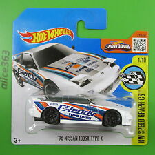 HOT WHEELS 2016 - ´96 Nissan 180SX Type X - Speed Graphics - 176 - neu in OVP