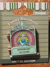 Disney Funny Business Pin 2014 Alice Wonderland Tea House Hinged LE1000 March