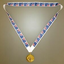 AUSTRALIA OLYMPIC MEDAL -Gold Olympic Style Medal with Australian Lanyard (MI3)