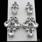 New Come Fashion Rhinestone Crystal Dangle Drop Chandelier Prom Pageant Earrings