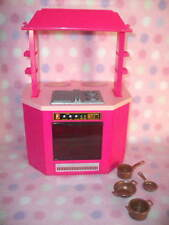 FOR BARBIE DOLL KITCHEN OVEN STOVE COUNTER POTS/PANS OPENS! GIRLS 4+ CUTE!