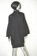 Ralph Lauren Black Sweater Loose Fitting Cashmere Blend Shawl Wide Arm M/L