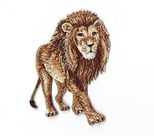 Iron On Embroidered Applique Patch Natural African Lion Walking