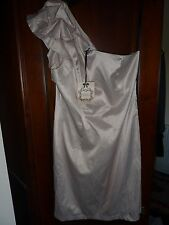 New NWT Red Herring Special Edition cream one shoulder cocktail dress.Size 14
