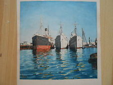 Hafen GENUA GENOVA Dampfer Motorschiff DORIDE UNBEKANNT SÖ 1956 Maritim harbour