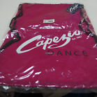 """Capezio Drawstring Backpack, logo with """"Dance"""" print. Blue, Pink, New"""