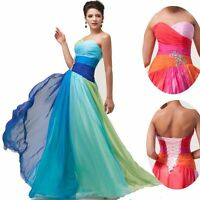 OMBRE Long Formal Evening Wedding Gown Bridesmaid party Prom Dress PLUS SIZE 26