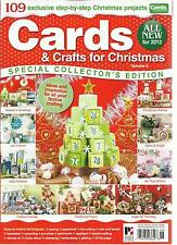 CARDS & CRAFTS FOR CHRISTMAS, VOL.6 SPECIAL COLLECTOR'S EDITION(ALL NEW FOR 2012