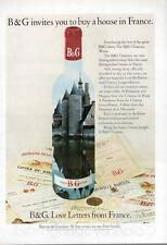 1972 B&G French Wine Vintage Bottle and Label PRINT AD