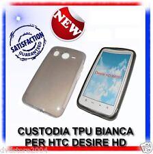 COVER CUSTODIA TPU GEL CASE BIANCA per HTC DESIRE HD