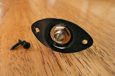 INPUT OUTPUT JACK AND PLATE OVAL BLACK FOR ELECTRIC GUITAR