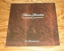 Original 1977 Ford Thunderbird Town Landau Sales Brochure 77