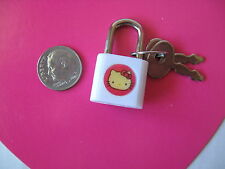 SANRIO HELLO KITTY MINI MASCOT LOCK WHITE  VINTAGE 1976/1989 NEW