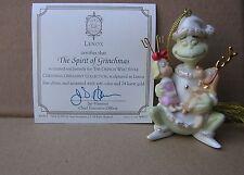 LENOX THE SPIRIT OF GRINCHMAS Grinch Ornament NEW in BOX w/COA Max Cindy Lou