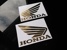 "GOLD CHROME HONDA WING DECALS, 2PCS, 4"" x 5.5"" cbr 600 929 vfr 954 1000 1100 cb"