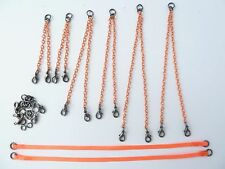 OO gauge multiple crane lifting chains and straps kit in orange