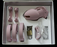 Pink Small Silicone Male Chastity Device/Belt Gimp Sissy Keuschheitsgürtel