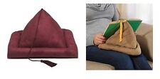 Burgundy Book Pillow Rest, Encourage Comfort Reading In Bed Children Or Adults