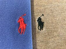 Lot of 2 Polo Ralph Lauren Polo Shirts Blue Tan Size Large Pony