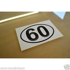 Car Caravan Window 60mph Sticker Decal Graphic - SINGLE