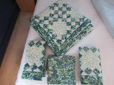 "Laura Ashley Bramble Quilt 4 piece set 86"" x 87.5"" full , two shams, valance"