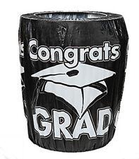 Black Congrats Grad Trash Can Cover Graduation Party Decoration
