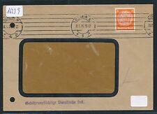 86239) DR Lochung Perfin, Ortsbrief Berlin N4 1934 ( Bz-Amt Wedding)