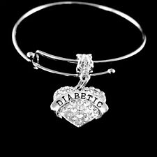 Diabetic bracelet diabetic charm bracelet Diabetes jewelry gift slider style