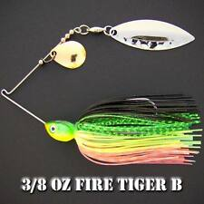 Bassdozer Spinnerbaits. 3/8 oz Style B. FIRE TIGER B spinner bait bass lures
