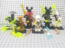 6 Sets Minifigures Flying Ninja Ninjago Echo Zane Kozu Blocks Pythor Toys DR047