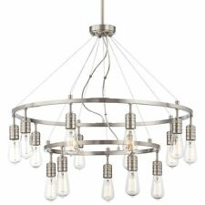 Minka Lavery 1137-84 Downtown Edison 15-Light 2-Tier Chandelier - Brushed Nickel