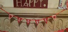 Love Mini Bunting Garland Wooden Wedding Party Red Pink Gift Home Decoration