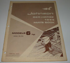 Parts Book Ersatzteilkatalog Johnson Sea Horse Model 6 HP 6R69M 6RL69M 1969!