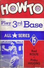 1941  All Star Series Baseball, How to Play 3rd Base, Red Rolfe,  Pinky Higgins