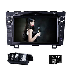 "for HONDA CRV 2007-2011 GPS 8""Car Stereo 2DIN DVD Player SD BT SWC Radio Camera"