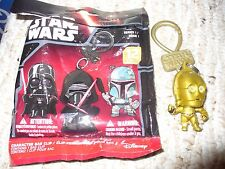 "Loose Star Wars Series 1 Character Bag Clip Opened Blind Bag - C-3PO - 2"" tall"