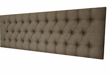 NEW BED HEAD DOUBLE SIZE DIAMOND PLEATED UPHOLSTERED BEDHEAD / HEADBOARD