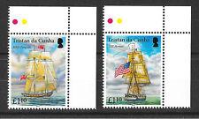 Tristan Da Cunha 2015 USS Hornet & HMS Penguin  MNH