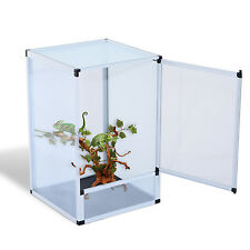 Screen Reptile Cage Amphibian Habitat Breeding Box Spider Insect Acrylic Medium