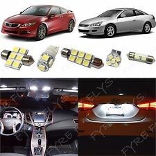 12 Piece White LED lights interior package conversion kit for Honda Accord #HA1W