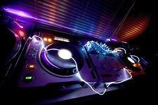 Glowing DJ Equipment 3D Mural Photo Wallpaper Decor Large Paper Wall
