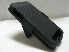 Black Shell Holster Belt Clip Case Combo W/KickStand for Motorola Atrix 3 MB886