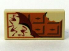 LEGO 4758 - HARRY POTTER - Tile 1 x 2 with Chocolate Bar Pattern - Tan