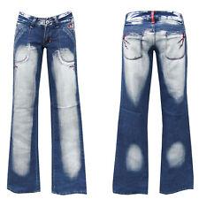 Denim Girls blue jeans w26-gr.32 bootcut pantalones golpe señora Teens chica nº 6