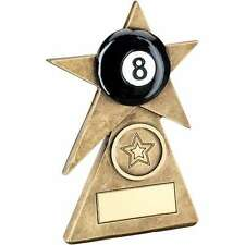POOL OR SNOOKER BLACK BALL STAR TROPHY AWARD FREE ENGRAVING RF235A