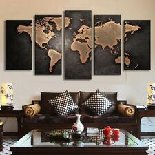 No Frame Large Canvas Huge Modern Home Wall Decor World Map Art Oil Painting