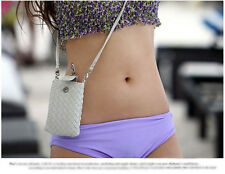 Useful Women's mini Cross - body messenger bag purse backpack phone bag White
