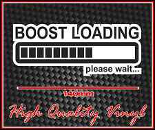 JDM TURBO DRIFT RACE AND RALLY CAR BUMPER STICKER BOOST LOADING SUPERCHARGED