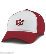 NEW 2015 WILSON STAFF GOLF RELAXED CAP, RED / WHITE.